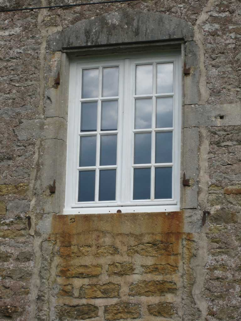 Window small panes, painted oak *